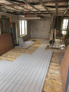 underfloor heating in progress